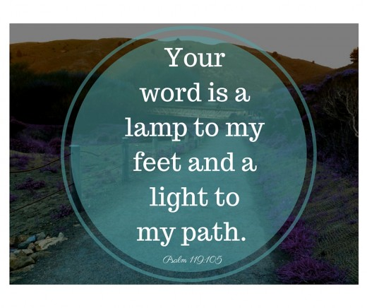 """Psalm 119:105  """"Your word is a lamp to my feet and a light to my path.""""  (ESV)"""
