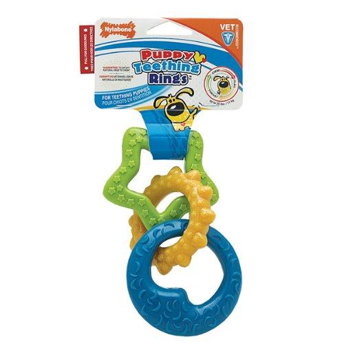 Nylabone Teething Rings and Teething Key Rings Are a Puppy Favorite.