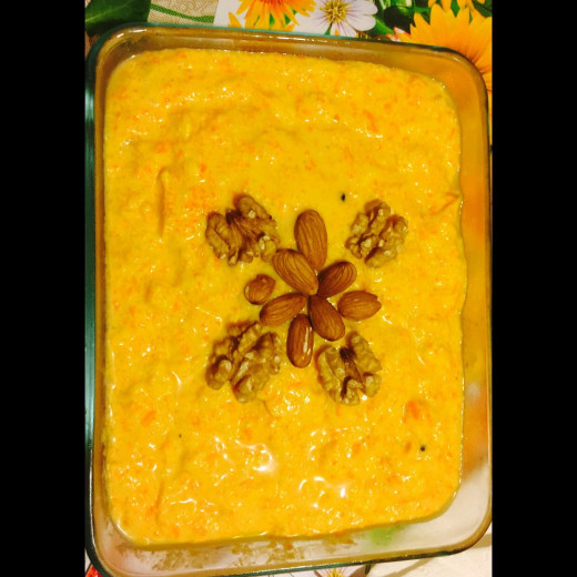 "Cannot have enough of this delicious dessert ""Rice and carrot kheer""."