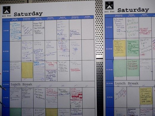 Google time planner at Scifoo