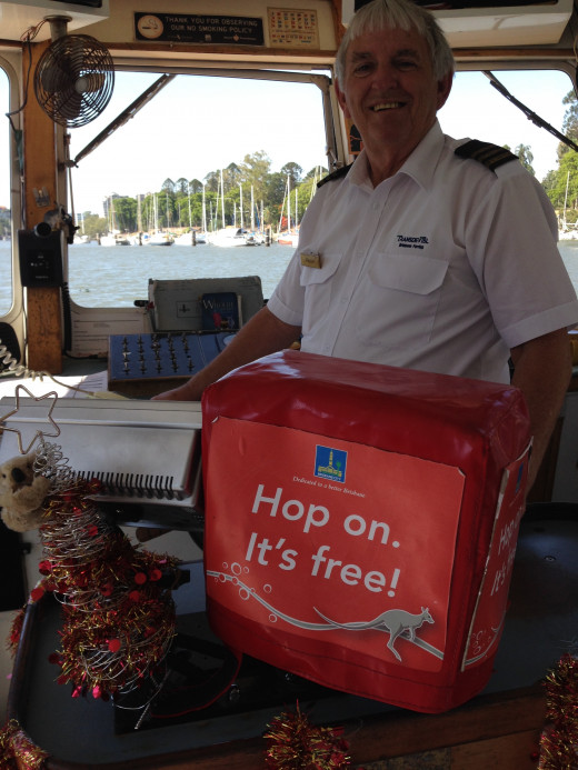 "'Hop on. It's free,"" says Ron from Brisbane's City Hopper. Image by Erwin Cabucos"