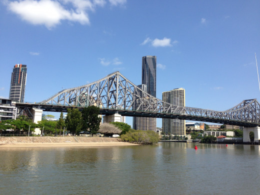 The Story Bridge - a view from the Brisbane River. Image by Erwin Cabucos