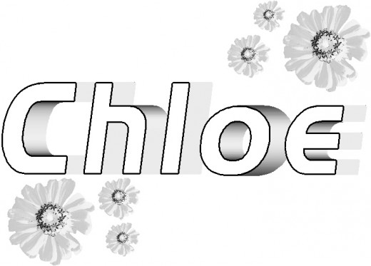 Free The Name Chloe Coloring Pages
