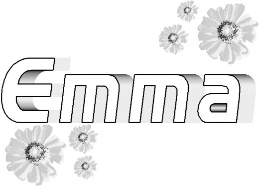 Coloring Pages Of The Name Emma Coloring Pages