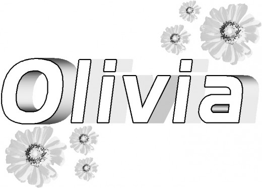 the name olivia colouring pages