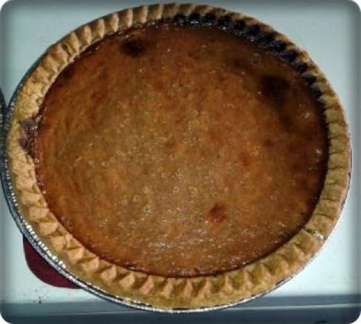 Home-baked fresh pumpkin pie.