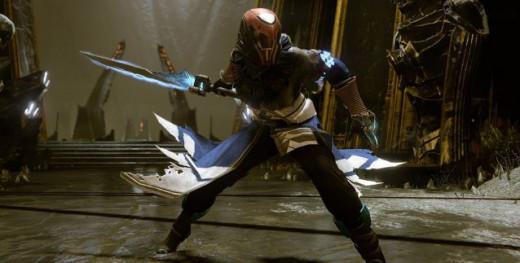 A Warlock class wielding a sword, a new permanent Heavy weapon type