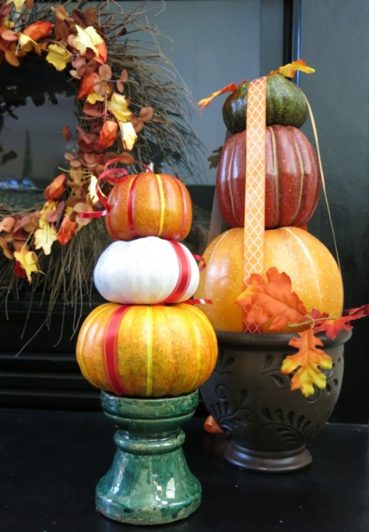Stacked Pumpkin Decoration