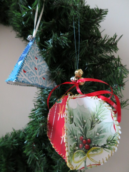 How to Make Christmas Ornaments from Recycled Christmas Cards