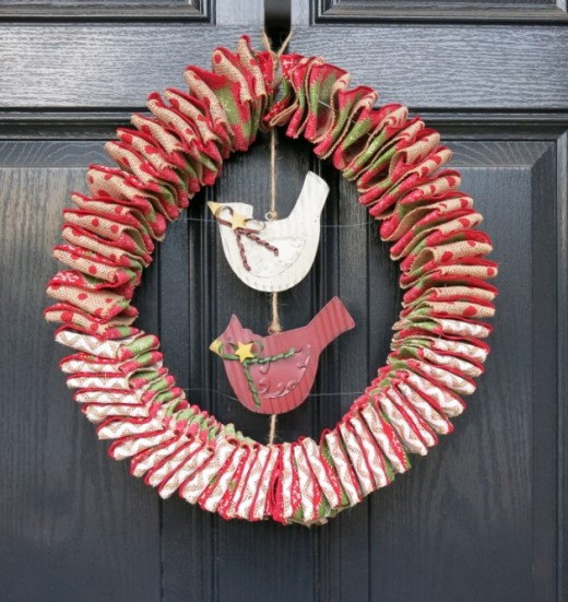 Folded Ribbon Wreath