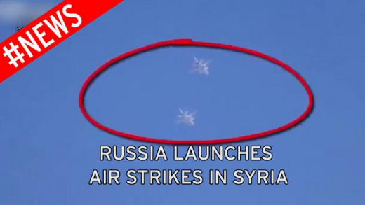 This allegedly is a photo of Russian jets flying in Syrian air space