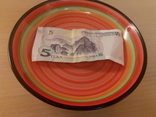 Leave your money on the plate