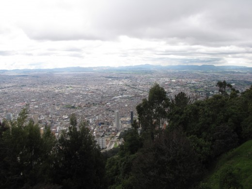 A view of Bogota from Monserrate.