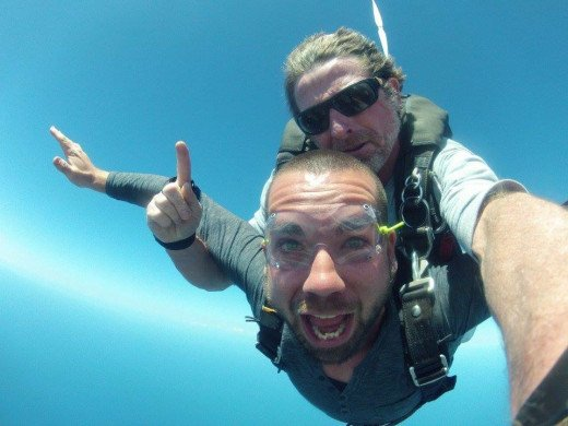 What true freedom looks like. My son Jared during a recent tandem sky dive for his birthday.