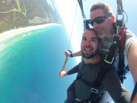Jared and instructor experiencing true freedom