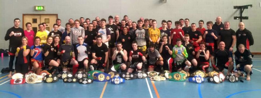 Kickboxing and K1 participants come together from all over Ireland for a historic sparring session.
