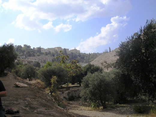 View of Gehenna, the Valley of Ben Hinnom, today.