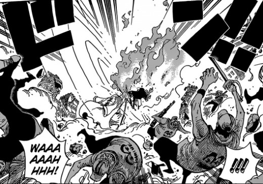 Sabo vs Fujitora in the Manga