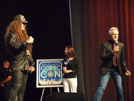 Voices Of The Animaniacs Jess Harnell, Rob Paulsen and Tress MacNeille at the Salt Lake Comic Con Press Conference September 24, 2015.
