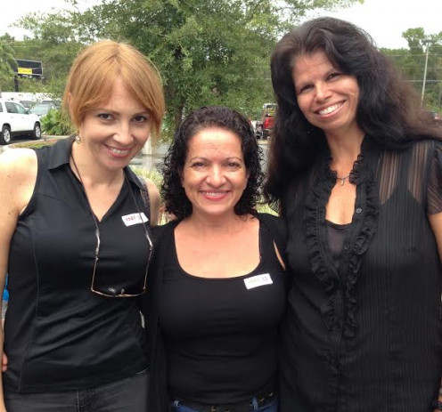 Babes in Black (color was not planned) waiting to Meet and Greet with Phil Vassar