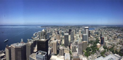 Seattle from the top of the Columbia Center