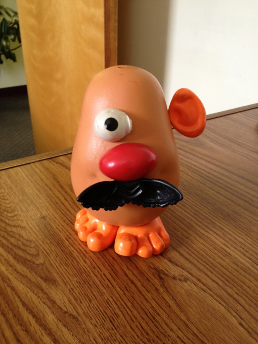 Wheezy's close friend and colleague, Mr. Potato Head, several months before his plastic surgery