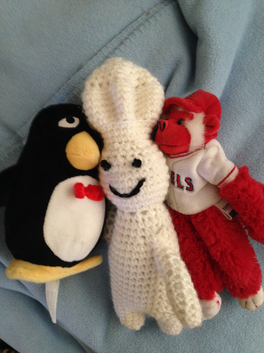 Wheezy, Doughboy, and Rally Monkey--an unlikely trio.