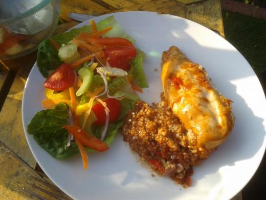 Chicken breast in BBQ sauce