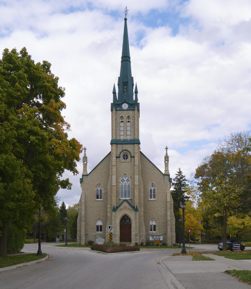 Knox Presbyterian Church in Elora, Ontario.
