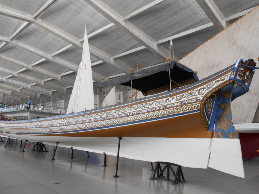 A boat belonging to the King of Portugal, built in 1728.