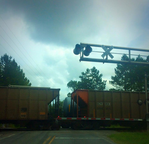 Sometimes we have the two lane train delays. :)