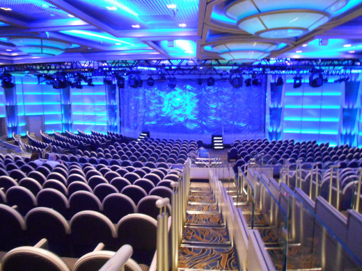 The theater on the Royal Princess.