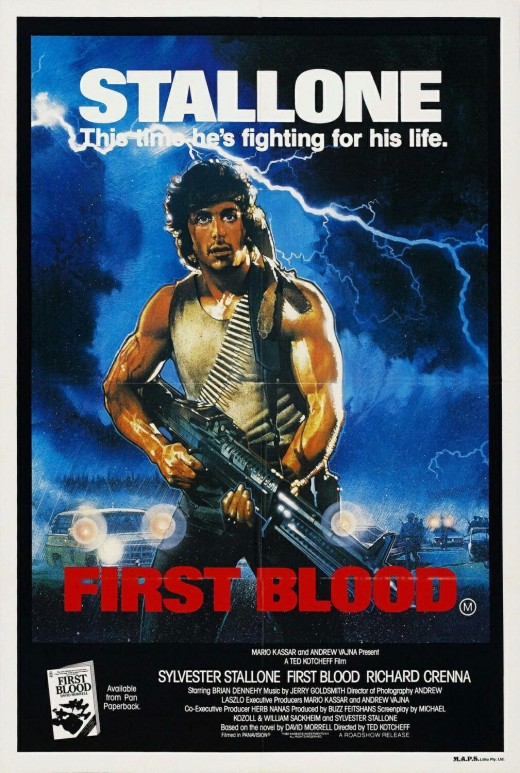 "Poster for ""First Blood"""