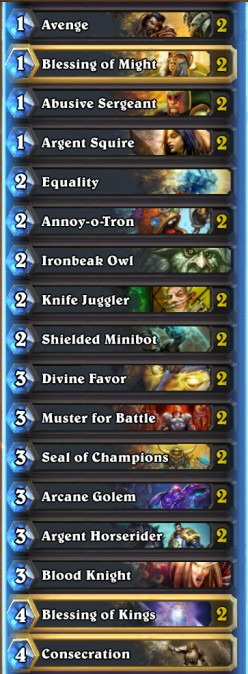 Hearthstone: Budget Divine Aggro Paladin