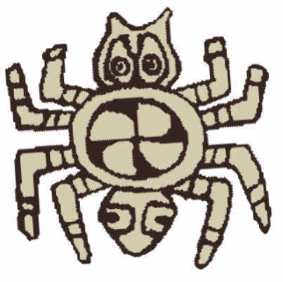 Spider image in Partia shell Gorget