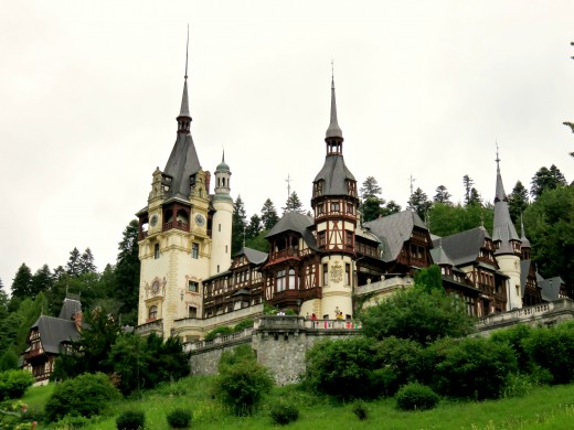 The magical Peleș Castle, Sinaia, Transylvania.