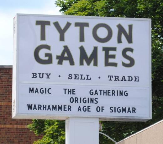 Tyton Games Villa Park, IL (street sign)