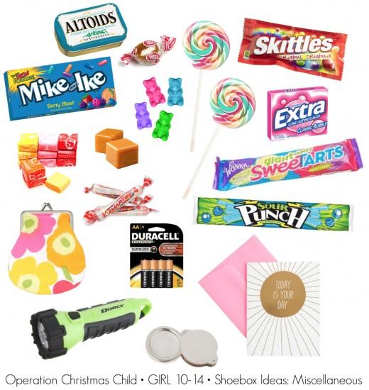 Operation Christmas Child Shoebox Ideas • Girl 10-14   Holidappy