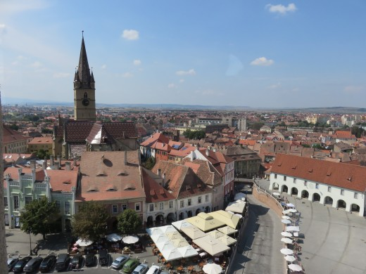 The historic city of Sibiu, Romania