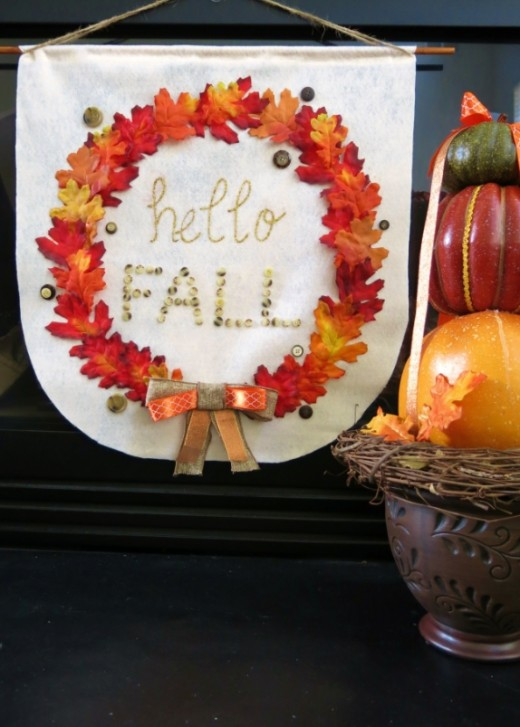 Easy No-Sew Fall Banner
