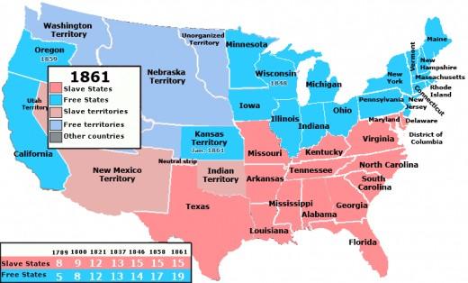 Number of free states versus slave states