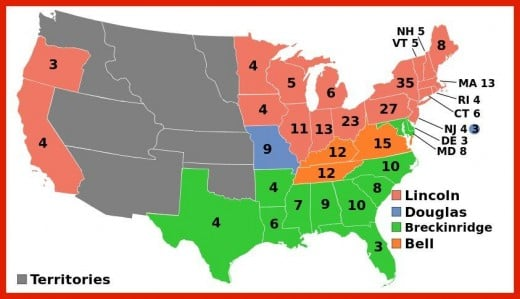 The 1860 Election results