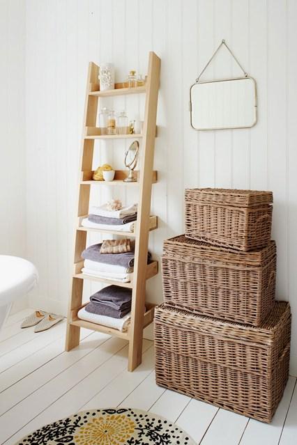 Baskets as Bathroom  Storage