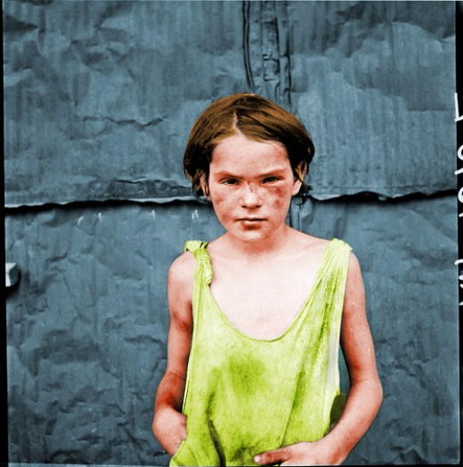 "Poverty: ""Damaged Child,"" Oklahoma City, OK, USA, 1936."