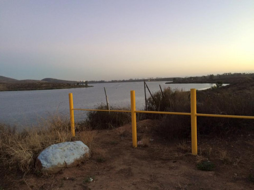 Overlooking the Otay Lake resevoir; near ground zero of the journey