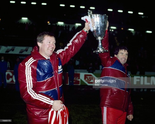 European Cup Winners Cup '83, pictured with Archie Knox (assistant manager)