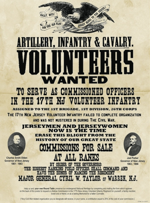 One of many posters posted to recruit volunteers for the ar y