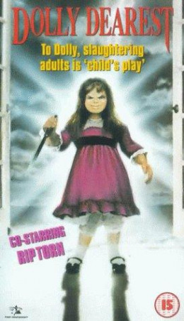 "European video cover. Note the oh-so-subtle nod to ""Child's Play."""