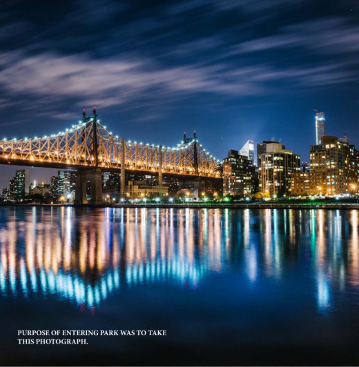 Photo taken from Queensbridge Park well after dark