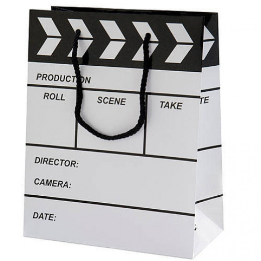 Put all the gifts for your screenwriter in this cute clapboard gift bag.